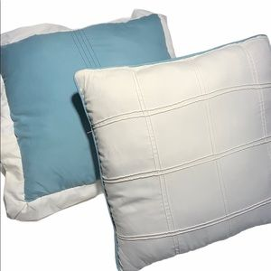 Other - 2 throw/accent pillows. Teal and off white.
